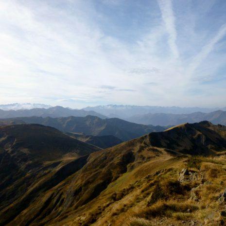 Vue depuis le Pic de la Calabasse en direction du massif de la Maladeta (Aneto)