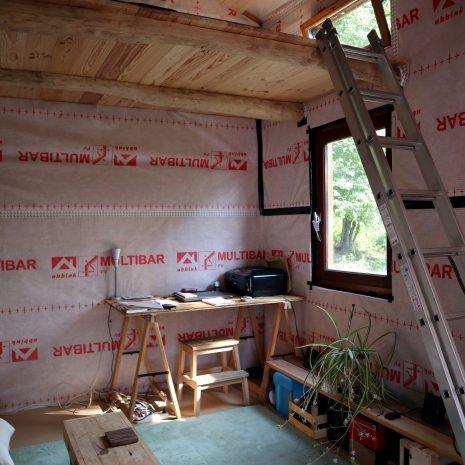 Aménagement de l'extension de la cabane
