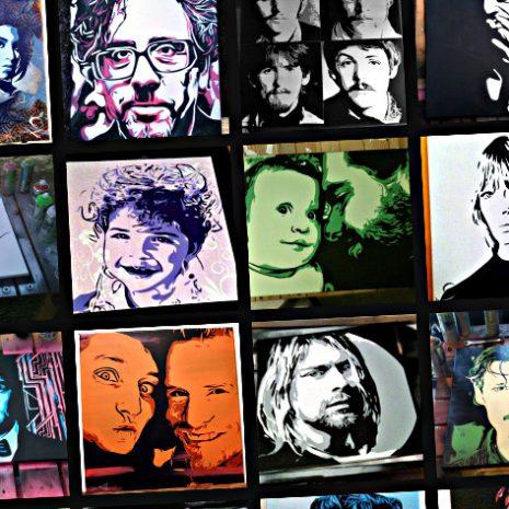 Lancement de Fond-Noir.com, le site d'Alex, peintre-pochoiriste !